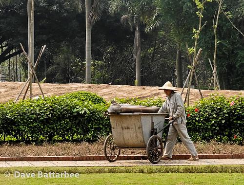 Vietnamese garden worker