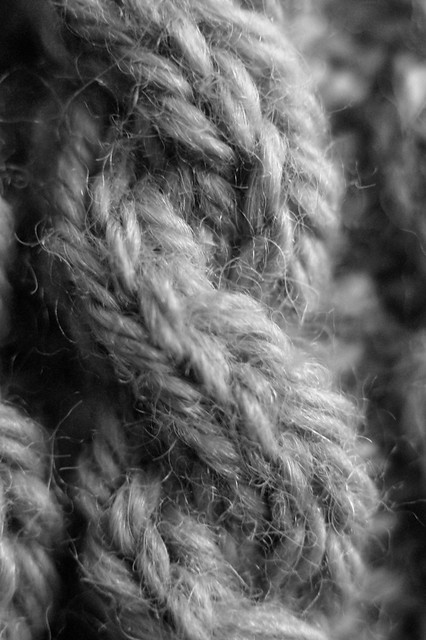 Cabled Macro - B&W