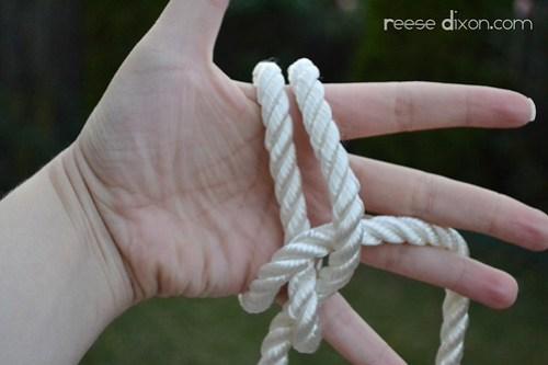 Rope Bracelet Tutorial Step 3