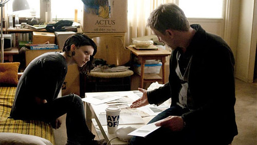 Rooney Mara and Daniel Craig in The Girl With The Dragon Tattoo