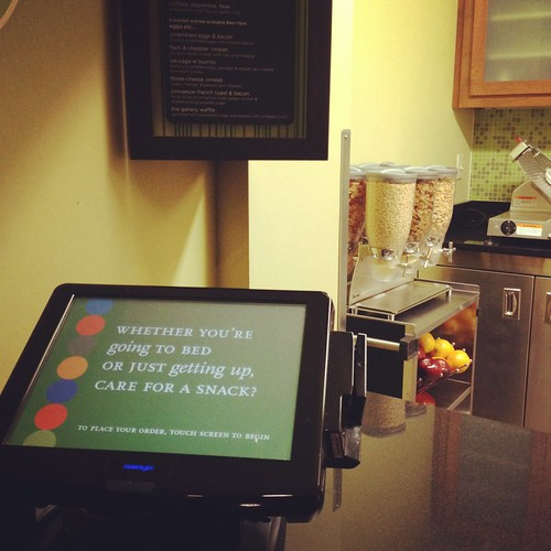touch pad at Hyatt Place Milwaukee West