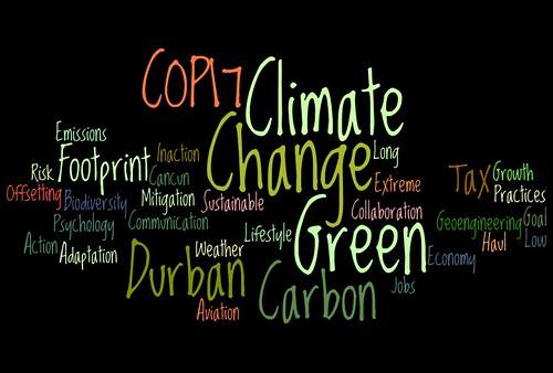 Climate Change #COP17 Wordle