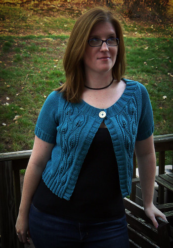 Teal Leaf Cardigan
