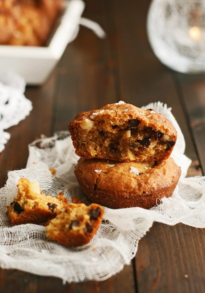 muffin-cookies de chocolate y nueces de macadamia