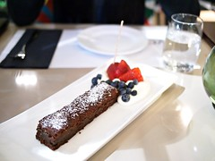 Warm Salt Chocolate Cake, Verre Wine Bar, 8 Rodyk Street