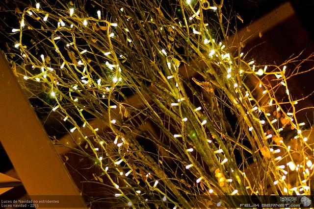 Luces de Navidad no estridentes