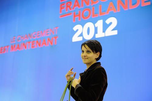 Najat Vallaud-Belkacem après le discours de François Hollande - © Razak