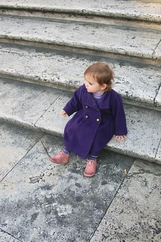 Sitting on the Spanish Steps