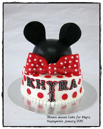 minniemouse cake for khyra