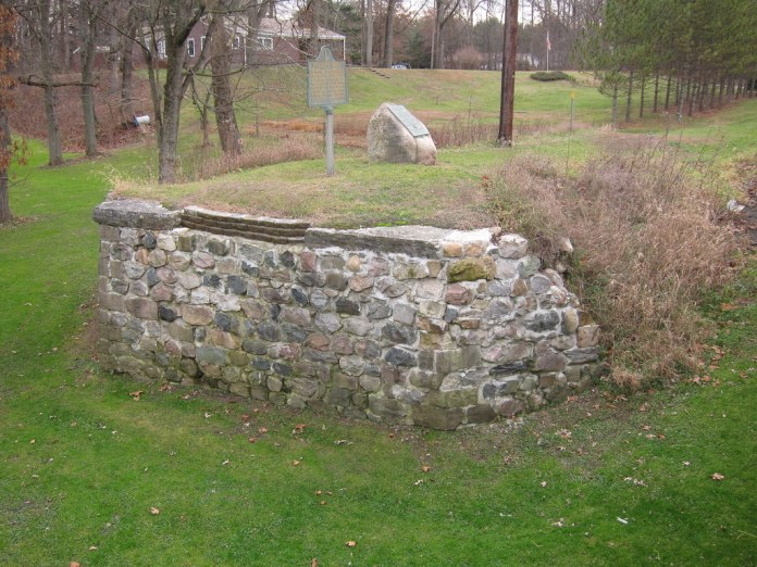Old bridge abutment