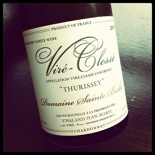 Vire-Clesse 2007 Domaine Sainte Barbe