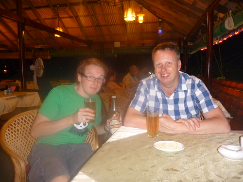 Col and Damien have a surreptitious beer