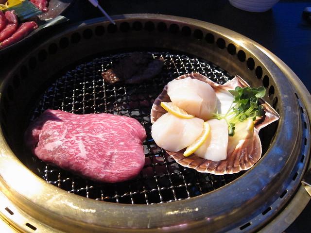 Steak and scallops