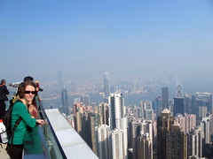 Emily and Hong Kong Skyline