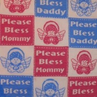 Machine Knitted Baby Blanket #2