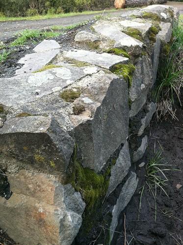Stone wall dog park