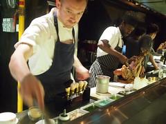 Andy Walsh preparing the palate cleanser. Esquina Tapas Bar, Jiak Chuan Road, Keong Saik, Tanjong Pagar