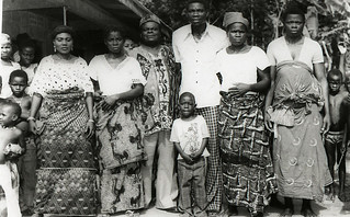 Group Photograph of Chief Atiyio's family in Nigeria, 1960s