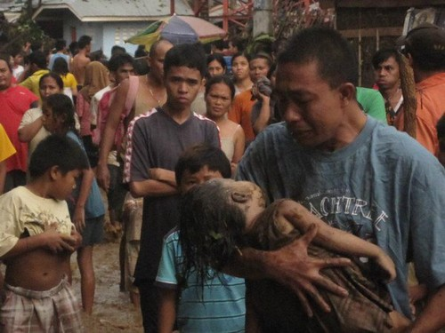 Storm Sendong - grief over the death of a child