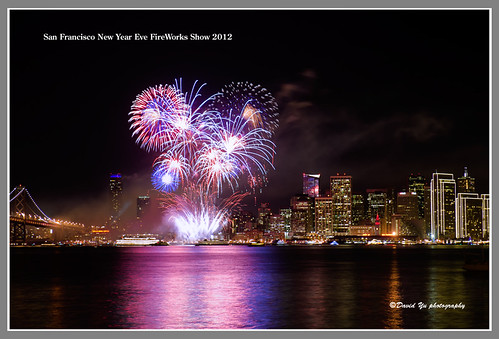 San Francisco New Year Eve FireWorks Show 2012 by davidyuweb