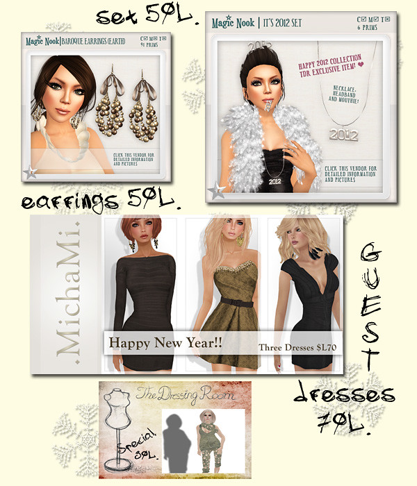 HAPPY 2012! NEW COLLECTION The Dressing Room
