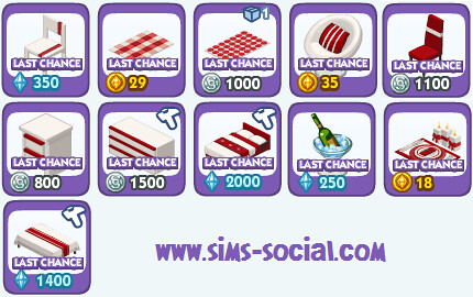 Sims Social - Last Chance Christmas Items!