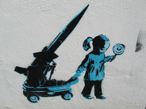 Stencil street art, Oval Road, Camden Town