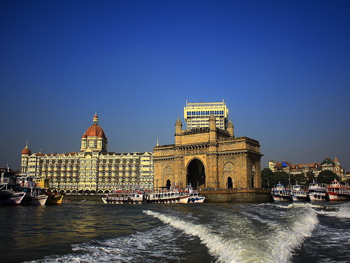Taj Mahal Hotel & Gateway of India by Indro Images
