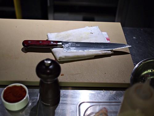 Andy's knife. Esquina Tapas Bar, Jiak Chuan, Keong Saik, Tanjong Pagar