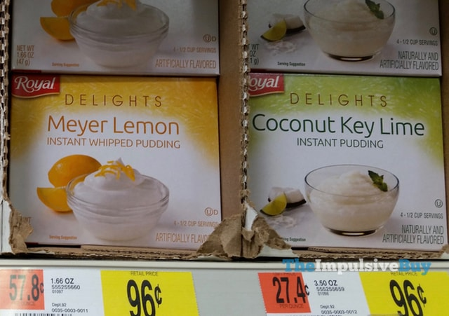 Royal Delights Meyer Lemon and Coconut Key Lime Instant Pudding