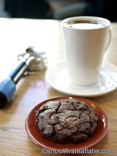 Blue Bottle Coffee, Mint Plaza- Double-Chocolate cookie (Mast Brothers Chocolate) $2