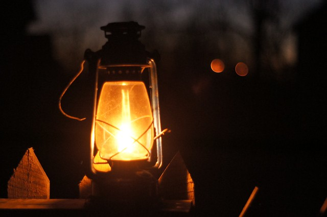 Lamp on Fence