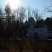 Media truck in the New Hampshire sun