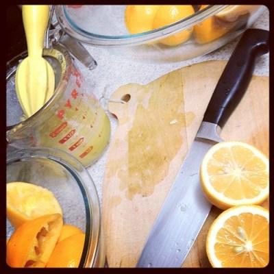 Juicing Meyer Lemons