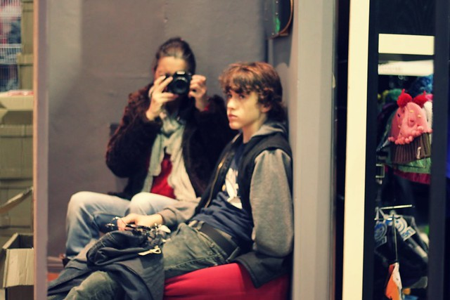 Shopping avec mes garçons...j'adore!