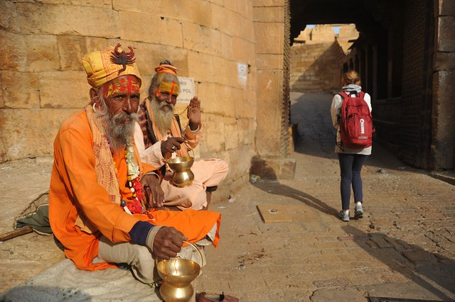 The Bikshu Duo, Fort, Jaisalmer