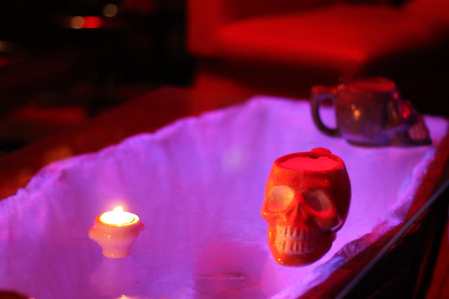 Skulls on a coffin