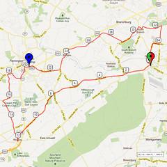09. Bike Route Map. Somerset Valley YMCA, Hillsborough, NJ