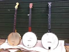 Three banjos