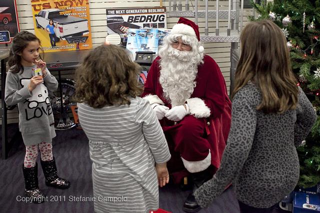 Santa in Northfield