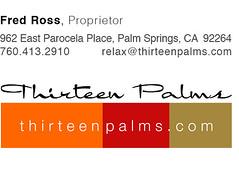 thirteen palms, email signature