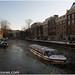Barco rompiendo el hielo en el Herengracht