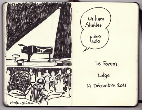 William Sheller - Piano Solo (Le Forum, Liège, 14/11/2011) - Dessin : Gilderic