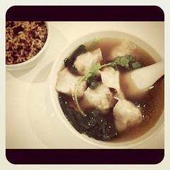 "Dumpling soup and ""brown rice"", Real Food, The Central, Singapore"