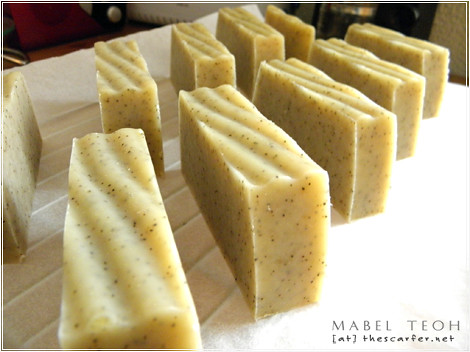 Kitchen Soap: Freshly cut bars
