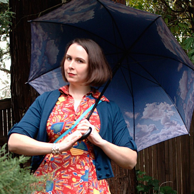 Blue Skies Above Umbrella via ModCloth