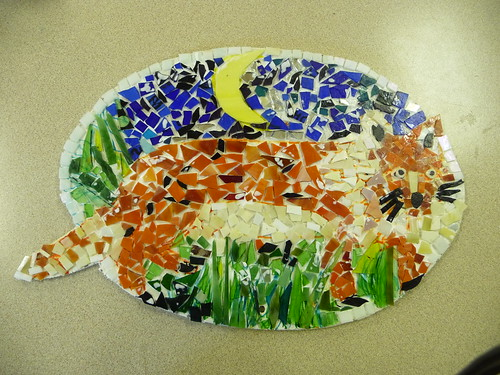 longstone school mosaic 002 by Jane Littlefield