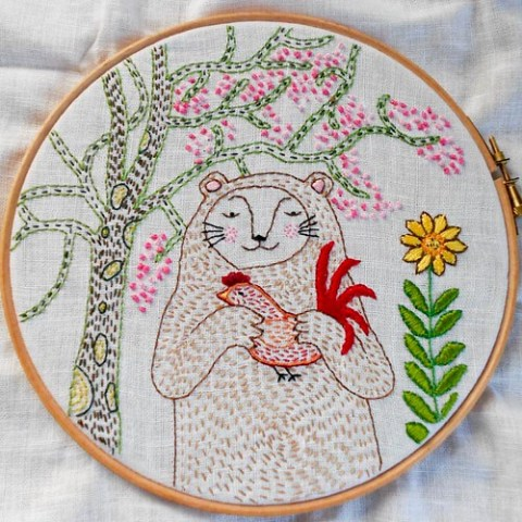 Hoop Up! swap inspiration piece for round 3