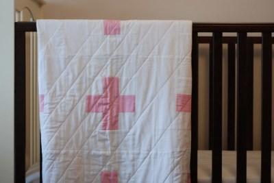 handmade modern quilt