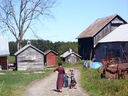 Amish farm kids